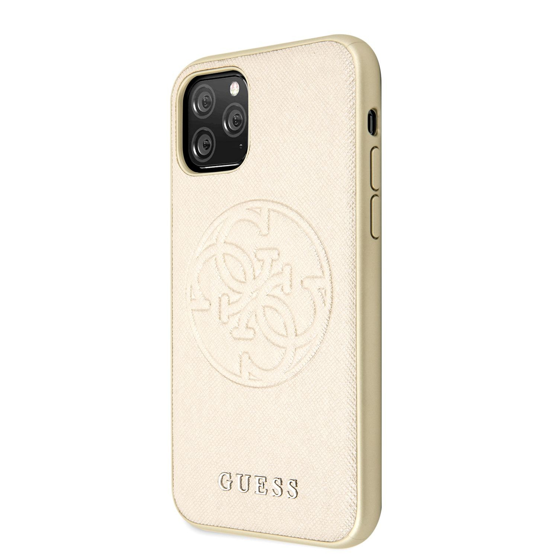 Apple iPhone 11 Pro GUESS GUHCN58RSSASGO Hátlap - Arany