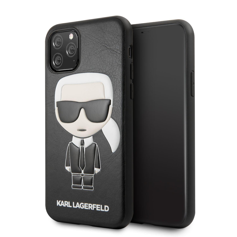 Apple iPhone 11 Pro KARL LAGERFELD KLHCN58IKPUBK Bőr Hátlap - Fekete