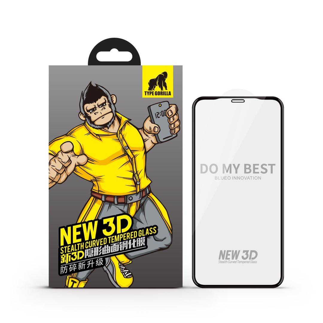Apple iPhone XR/11 TG New 3D Stealth Full Üvegfólia - Fekete