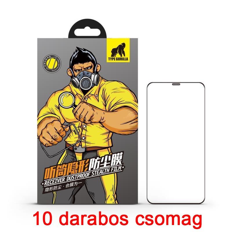 Apple iPhone X/XS/11 Pro TG Dustproof 10 Darabos 2.5D Full Üvegfólia - Fekete