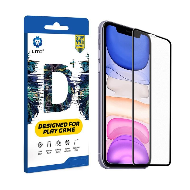 Apple iPhone 6/6S Lito D+ 2.5D Full Anti-Glare Üvegfólia - Fekete