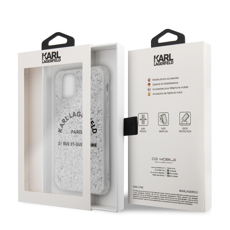 Apple iPhone 11 Pro KARL LAGERFELD KLHCN58TRFGSL Glitter TPU Hátlap - Ezüst