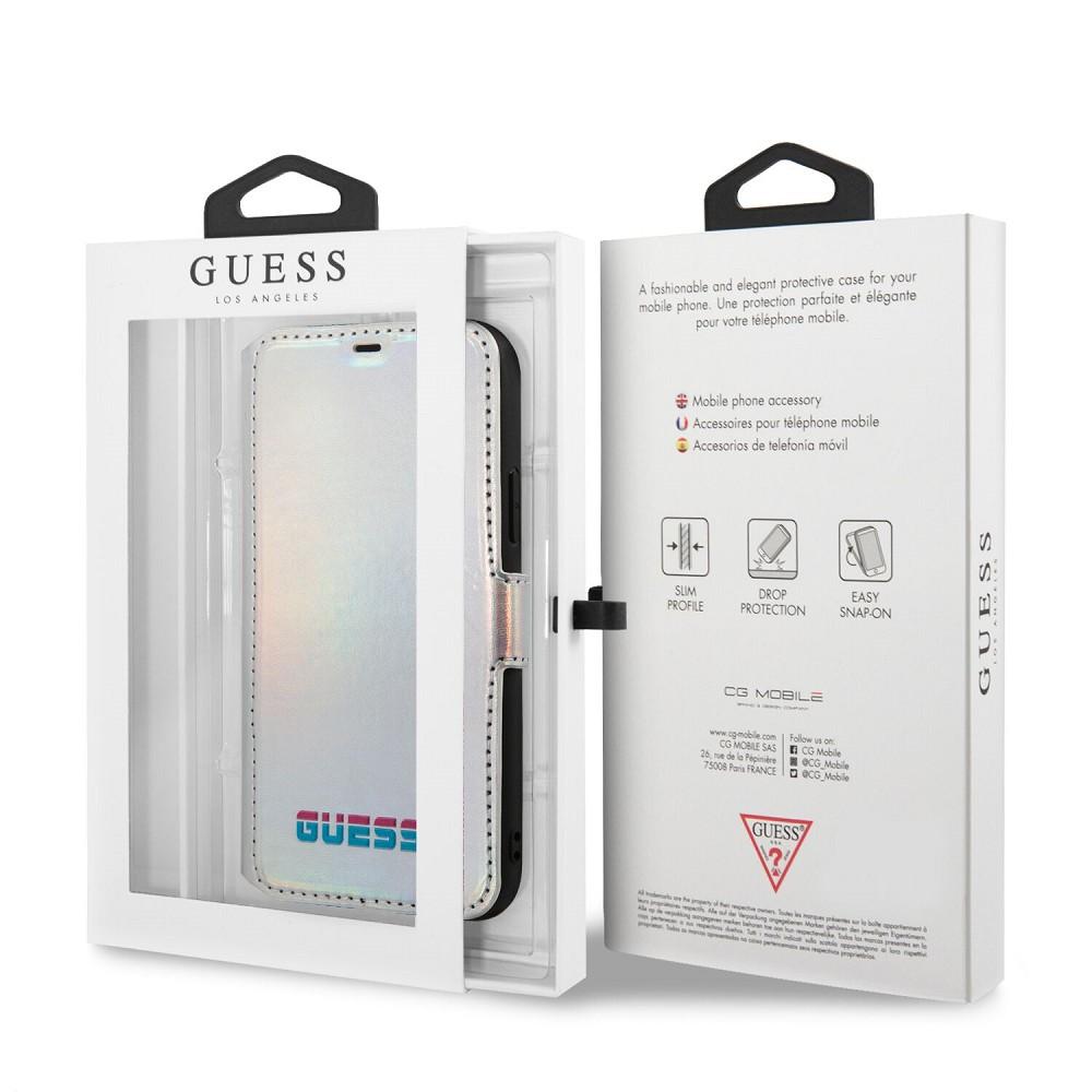 Apple iPhone 11 Pro Max GUESS GUFLBK65SBLD Könyvtok - Ezüst