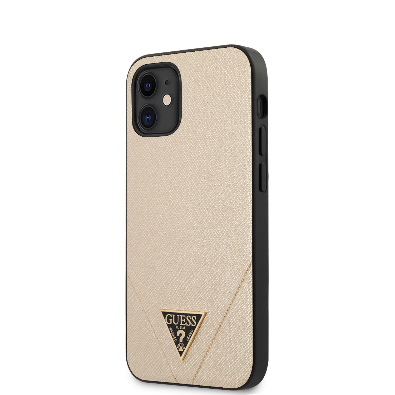 Apple iPhone 12 Mini GUESS GUHCP12SVSATMLLG Hátlap - Arany
