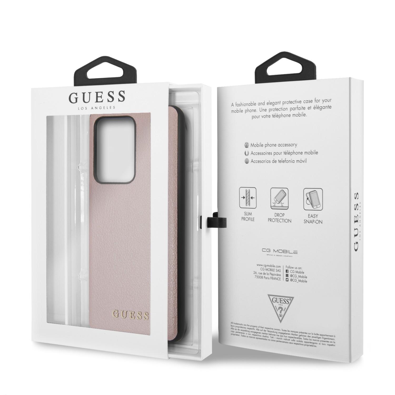 Samsung S20 Ultra GUESS GUHCS69IGLRG Bőr Hátlap - Rose Gold