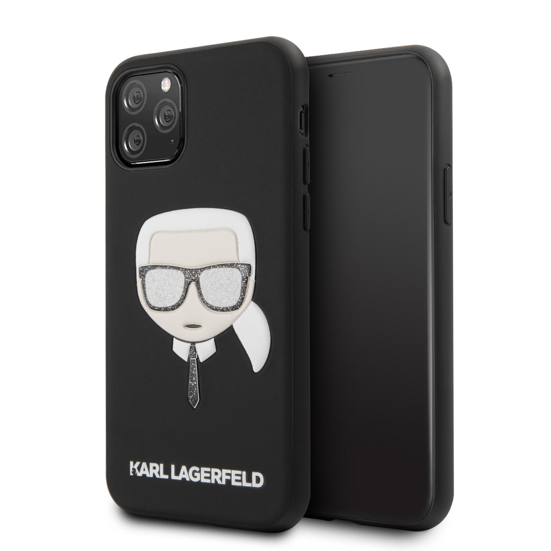 Apple iPhone 11 KARL LAGERFELD KLHCN61GLBK Hátlap - Fekete