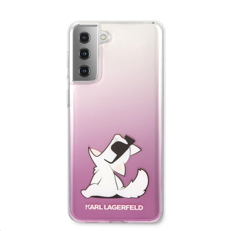Samsung S21 Plus KARL LAGERFELD KLHCS21MCFNRCPI TPU Hátlap - Rózsaszín