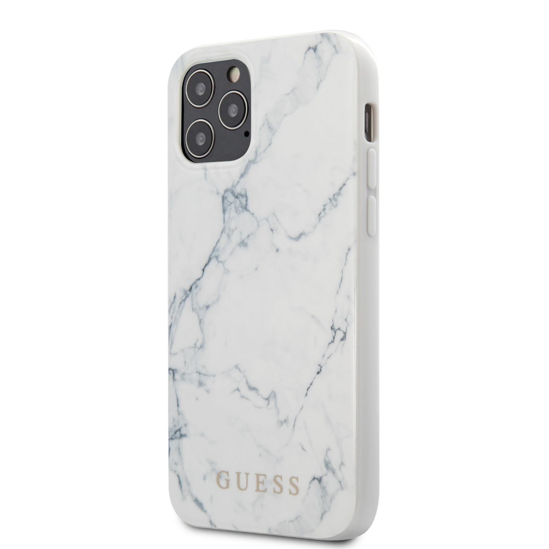 Apple iPhone 12 Pro Max GUESS GUHCP12LPCUMAWH Hátlap - Fehér