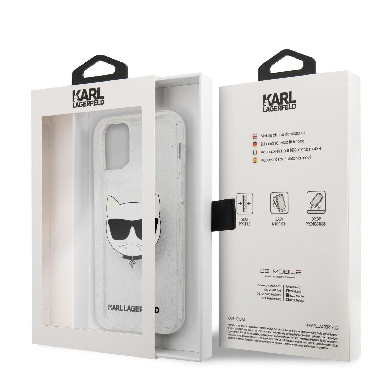 Apple iPhone 12/12 Pro KARL LAGERFELD KLHCP12MCHTUGLS Glitter TPU Hátlap - Ezüst
