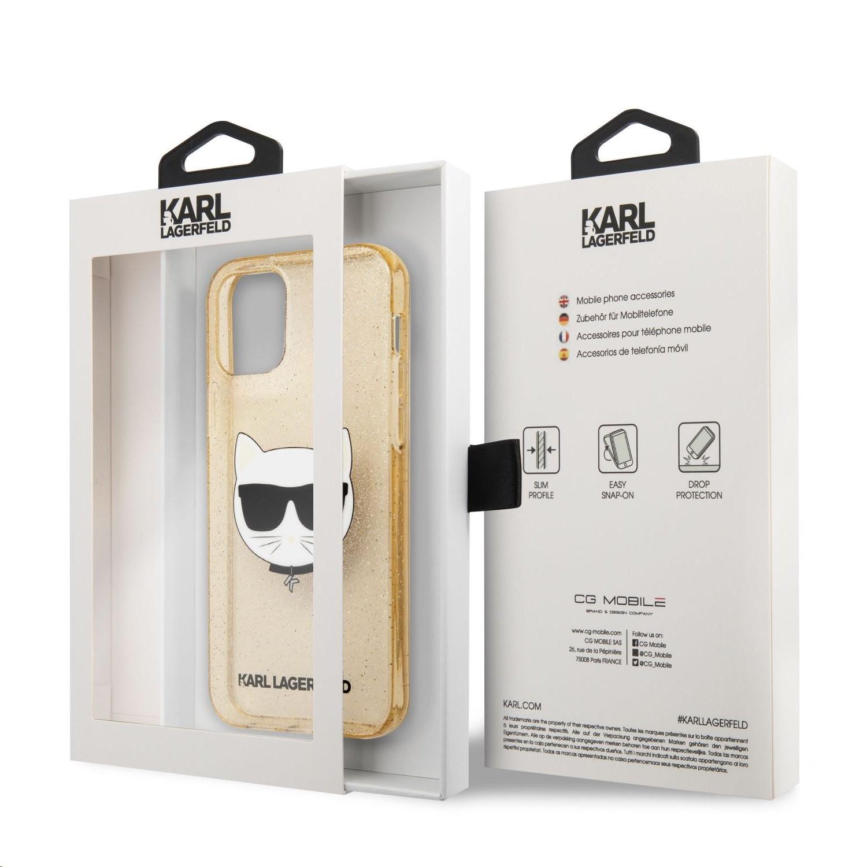 Apple iPhone 12/12 Pro KARL LAGERFELD KLHCP12MCHTUGLGO Glitter TPU Hátlap - Arany