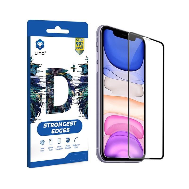 Honor 10X Lite Lito D+ 2.5D Full Üvegfólia - Fekete