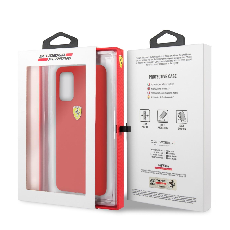 Samsung S20 Plus Ferrari FESSIHCS67RE Liquid Silicon Hátlap - Piros