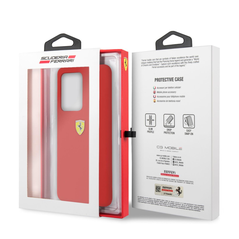 Samsung S20 Ultra Ferrari FESSIHCS69RE Liquid Silicon Hátlap - Piros