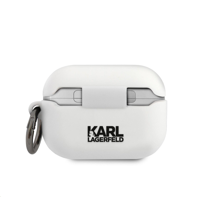 Apple Airpods Pro KARL LAGERFELD KLACAPSILCHWH Liquid Silicon Tartó - Fehér