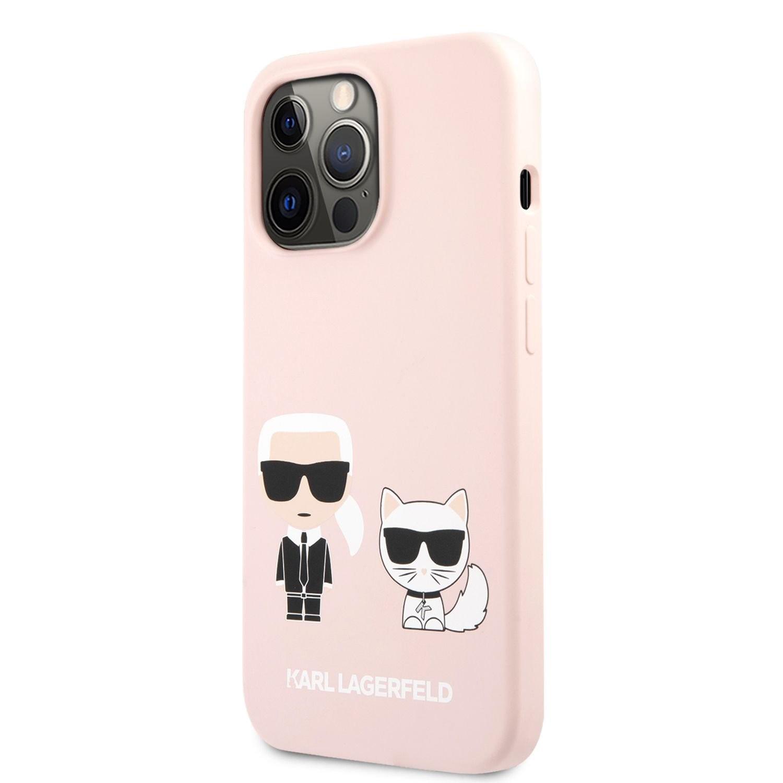 iPhone 13 Pro Max KARL LAGERFELD KLHCP13XSSKCI Liquid Silicon Hátlap - Rózsaszín