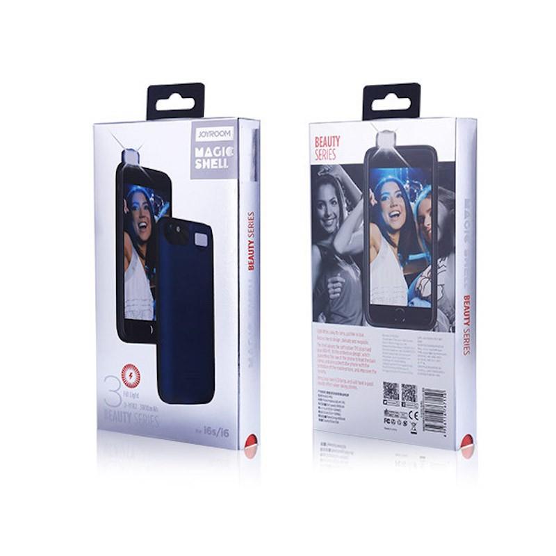 Joyroom D-M182 Apple iPhone 6/6S Beauty 3000 mAh Powerhátlap - Piros