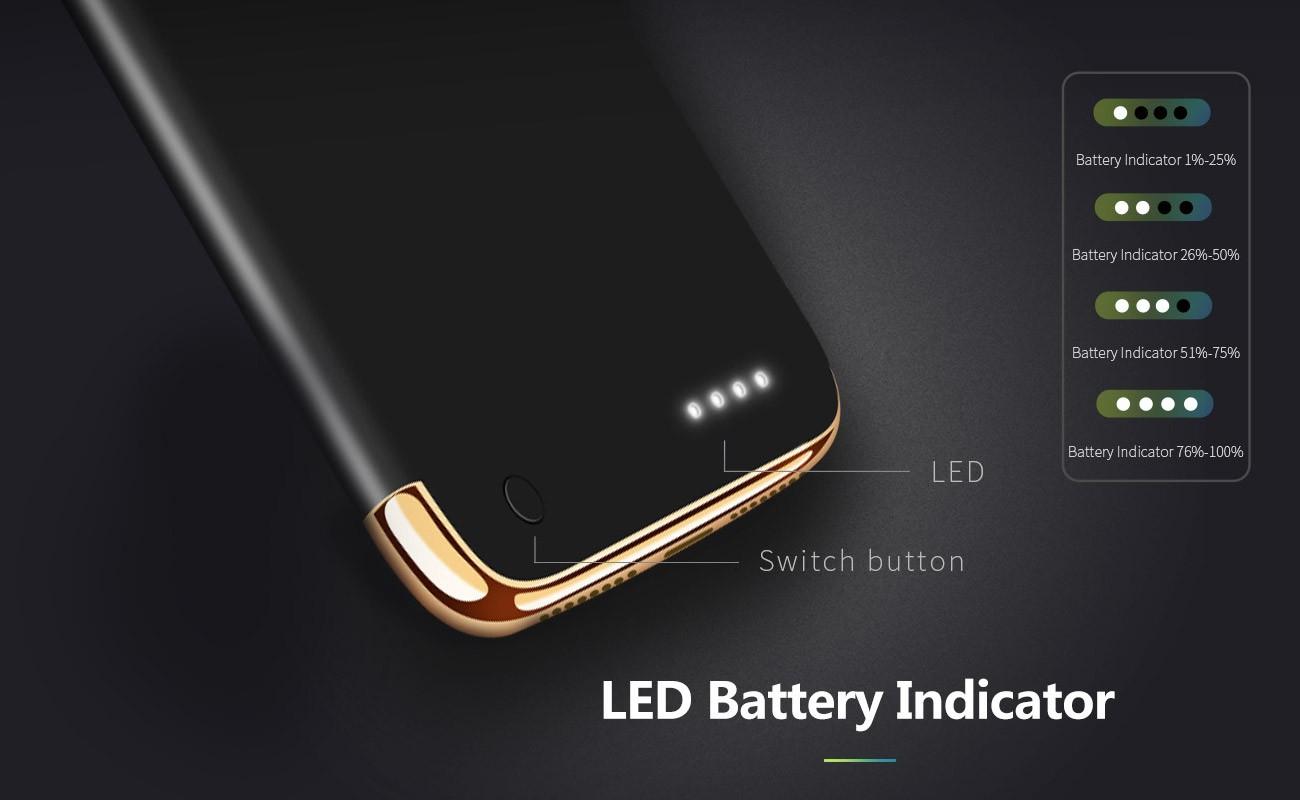 Joyroom D-M142 Apple iPhone 7/8 2500 mAh Powerhátlap - Piros
