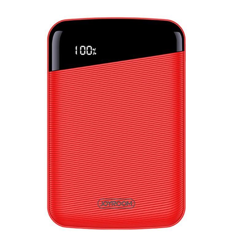 Joyroom D-M195 Elegant Mini 10000 mAh Powerbank - Piros