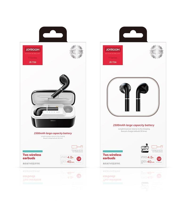 Joyroom JR-T06 TWS Bluetooth 5.0 Headset - Fehér
