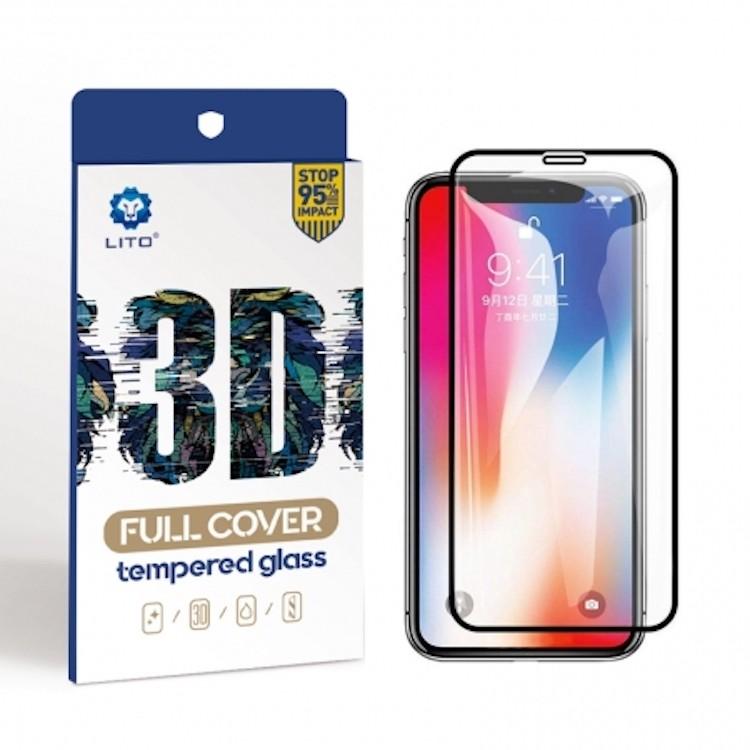 Apple iPhone XR/11 Lito 3D HD Full Cover Üvegfólia - Fekete